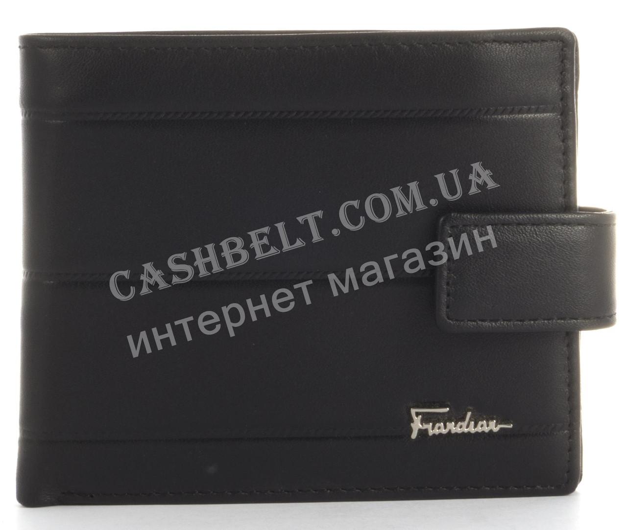 Прочный стильный кошелек из натуральной качественной кожи Frandiar art. FD83-1077A черный