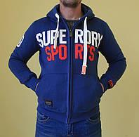 Мужская толстовка Super Dry 532 джинс код 221в