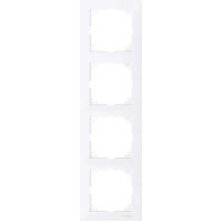 Рамка 4 местная Merten M-Pure Активно Белый MTN4040-3625