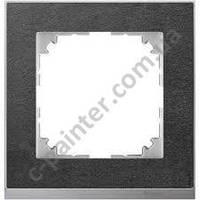 Рамка 1 местная Merten M-Pure Decor Сланец  Алюминий MTN4010-3669