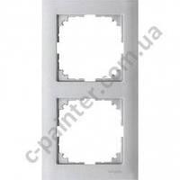 Рамка 2 местная M-Pure Алюминий MTN4020-3660