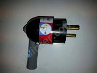 Вилка электрическая поворотная Legrand 2К +3 16А Черная 50176