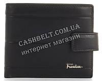 Прочный стильный кошелек из натуральной качественной кожи с визитницей Frandiar art. FD83-594A черный, фото 1
