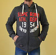 Мужская толстовка Super Dry 456 серый код 223в