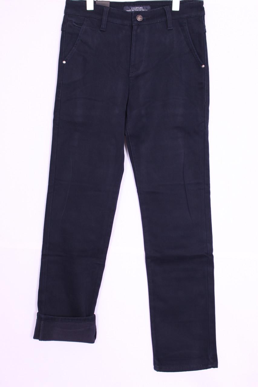 Утепленные стильные мужские джинсы  LS Luvans (код 5641)