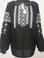 Женская блузка вышиванка и больших размеров из льна Зинаида фасон  в размерах 42, 44, 46, 48, 50, 52,  54, 56