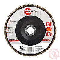 Диск шлифовальный лепестковый 180x22 мм, зерно K40 INTERTOOL BT-0224