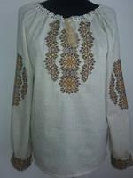 Женская блузка вышиванка льняная  больших размеров Зиновия фасон  в размерах 42, 44, 46, 48, 50, 52,  54, 56