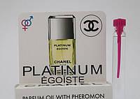 Масляные духи мужские с феромонами Chanel Egoiste Platinum 5 ml