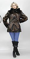 Искусственная женская шубка коричневая норка М-124 42-52 размеры