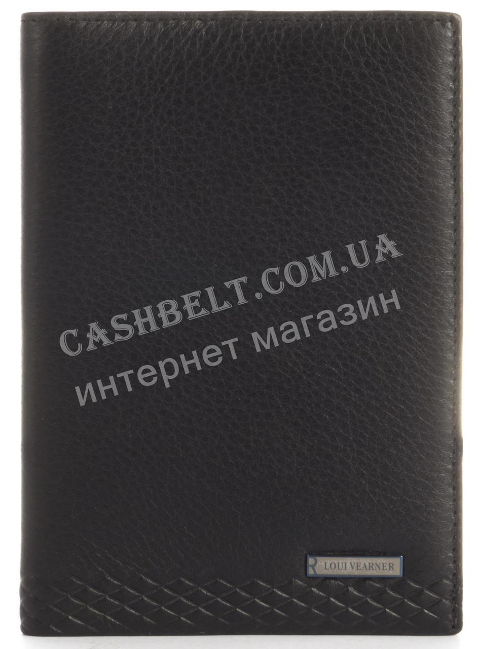 Стильная элитная кожаная обложка высокого качества LOUI VEARNER art.LOU105-2045A черного цвета