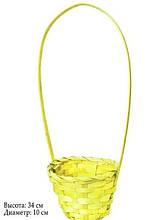 Кошик для квітів арт. HKD-004 жовта 34 х 10 см