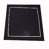Сервировочная  однотонная салфетка 40-40 см черного цвета