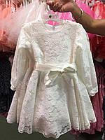 Платье на девочку гипюровое DEVA. ПОЛЬША