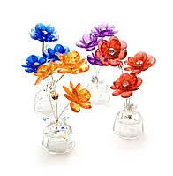 Цветок хрустальный (3 цветка) (15х5х5 см)