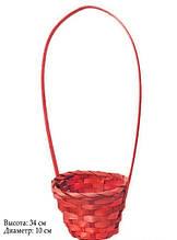 Кошик для квітів арт. HKD-004 червона 34 х 10 см