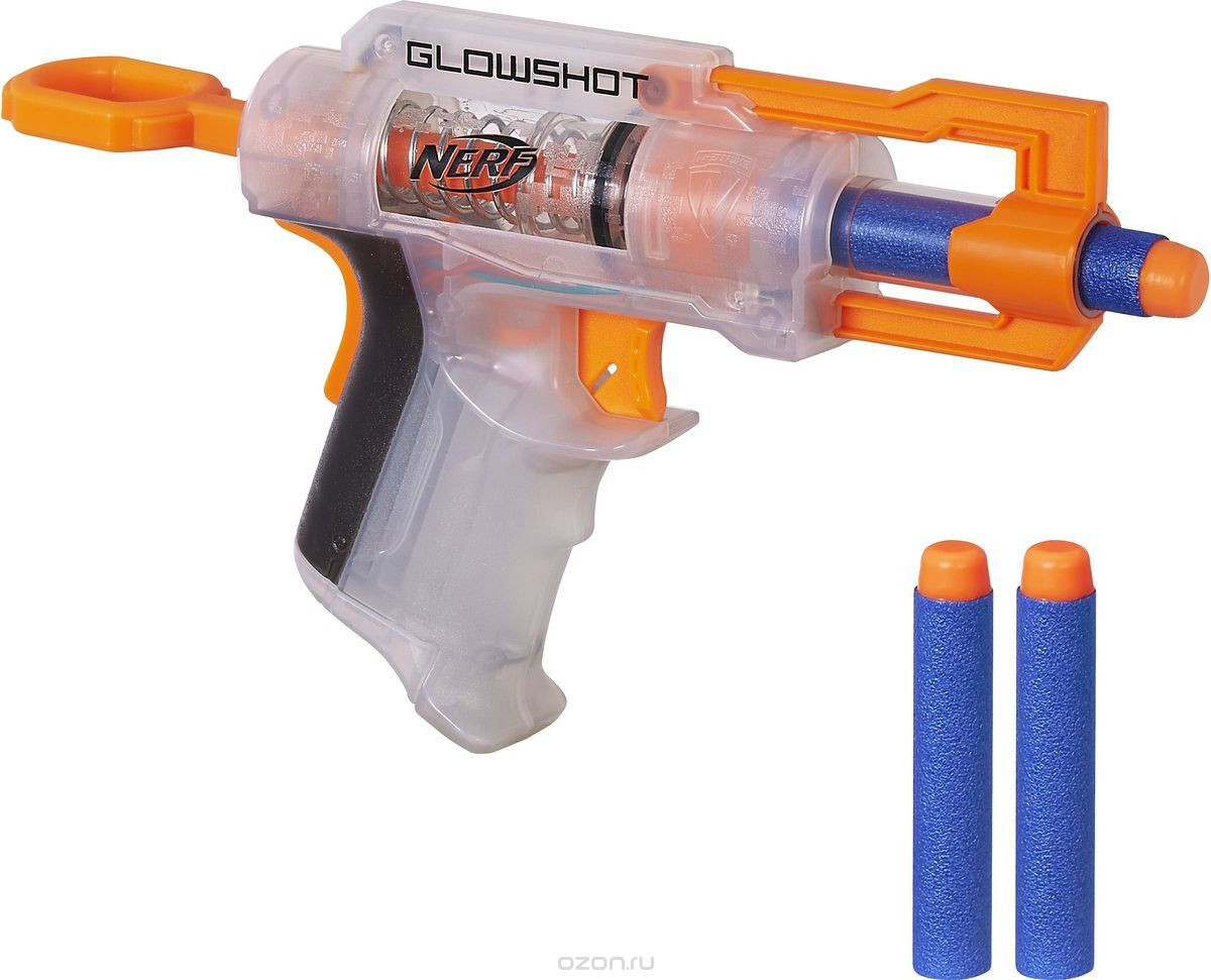Nerf Бластер Элит Глоушот белый N-Strike GlowShot Blaster