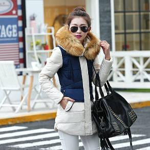 Куртка жіноча зимова з хутром, фото 2