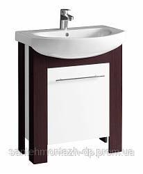 Шкафчик KOLO RUNA под умывальник 65*79*31,8 см венге/белый глянец (пол.)