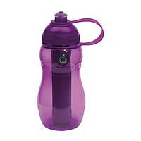 Бутылка для питья «On track» фиолетовая