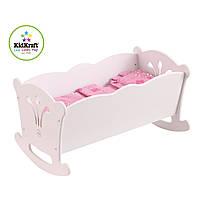 Колиска для ляльки біла  KidKraft Doll Cradle  60101