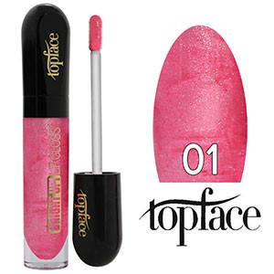 TopFace Блеск для губ Bright UP! PT-201 Тон №01 tender pink, перламутр