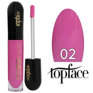 TopFace Блеск для губ Bright UP! PT-201 Тон №02 bright lilac, глянцевый