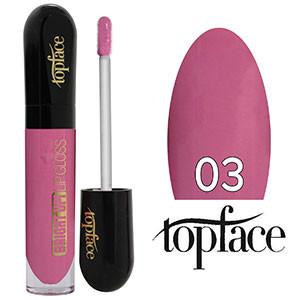 TopFace Блеск для губ Bright UP! PT-201 Тон №03 pink rose, глянцевый