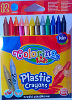 Карандаши восковые Пластиковые Стираемые 12 цв. 67331PTR Colorino Польша