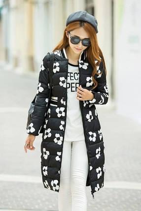 Жіноча куртка квітка, фото 2