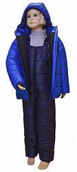 Костюм подростковый для мальчика зимний куртка+полукомбинезон цвета электрик