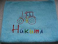 Вышивка на халатах и полотенцах