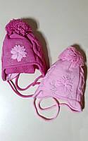 Зимняя шапка с шарфиком для девочки Ambra F 52 (Termo)