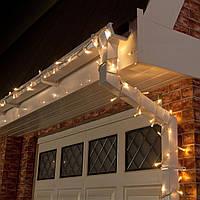 Уличная Гирлянда светодиодная нить, 20 м, 200 led белый каучуковый провод - цвет тепло белый, статический, фото 1