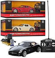Машина р/у, 1:14, резиновые колеса, свет фар, работает от аккумулятора (в комплекте), пульт управления