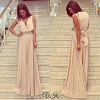 Платье длинное с украшением А 6543