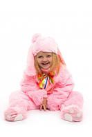 Костюм детский маскарадный зайчик малыш розовый