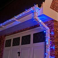 Уличная Гирлянда светодиодная нить, 20 м, 200 led белый каучуковый провод - цвет синий