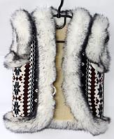 Теплая шерстяная детская жилетка для девочки - снежинки