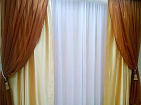 """Готовый комплект штор """"Артемида"""" (Золото), фото 3"""