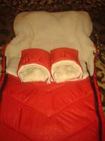 Детский шерстяной конвер - овчина красный