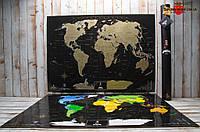 Скретч-карта мира MyMap Black Edition на английском языке.