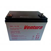 Герметизированный необслуживаемый свинцово-кислотный аккумулятор Ventura GPL 12-70 (технология AGM)