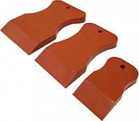 Набор резиновых шпателей из стойкой к агрессивным жидкостям резины, красный, твердый VTP 1880