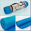 Коврик для фитнеса, каремат NBR 10мм c фиксирующей резинкой YG-2778-1 (1,83мх0,61мх10мм, синий)