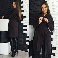 Женское пальто Глянец с пуговицами наискосок