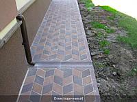 Отлив тротуарный 60мм, коричневый, 0,5м