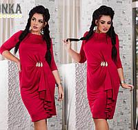 Платье с брошкой в расцветках 13158, фото 1