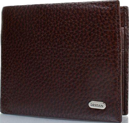 Мужское кожаное портмоне Desisan Shi0723-019 коричневый