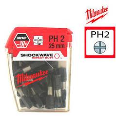 Бита для шуруповерта MILWAUKEE  PH2 X 25MM 25ШТ (4932430853)